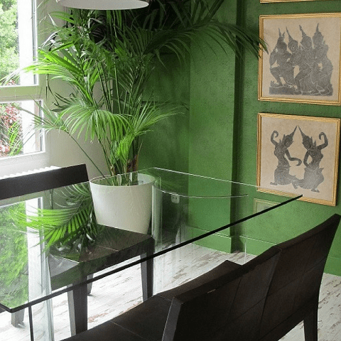 mesa comedor cristal diseño interiores reformas decoración