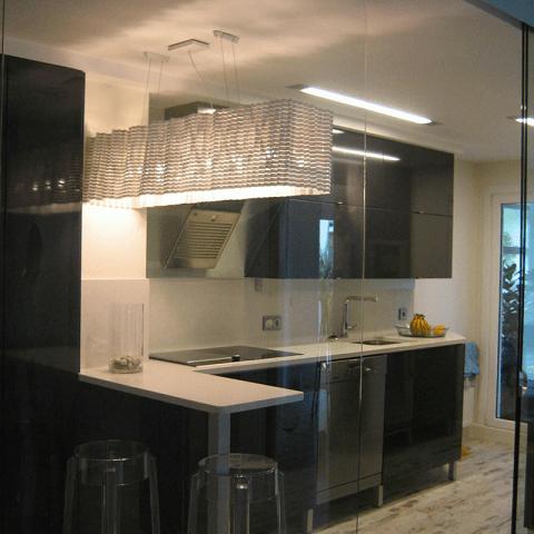 cierre cristal cocina diseño interiores reformas decoración