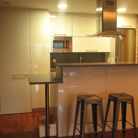 cocina abierta diseño interiores reformas decoración