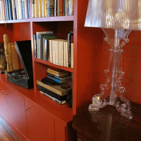 lámpara bourgie kartell antes y después interiorismo