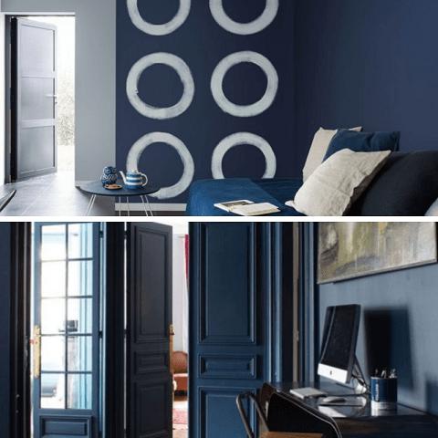 classic blue color año 2020 paredes y puertas