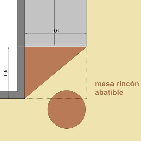 rincón trabajo mesa abatible oficina casa diseño resimercial mesa abatible