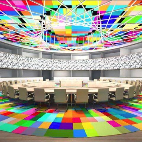 el poder de los colores sala reuniones jefes de estado y gobierno consejo europeo Bruselas Georges Meurant